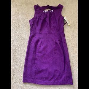 Purple sheath dress by Julian Taylor